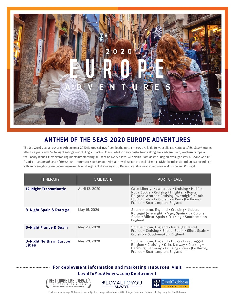 Royal Caribbean EUROPA (UK) 2020