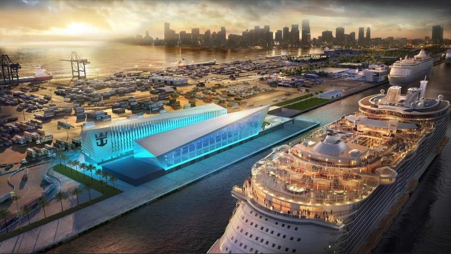 Nuevo terminal de PortMiami para alojar el Oasis 4 y Allure