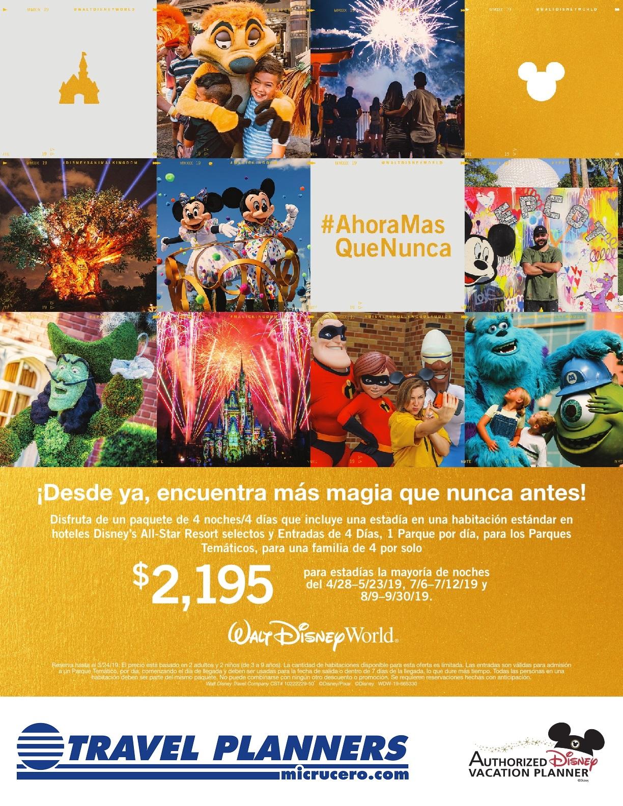 Nueva Oferta Walt Disney World